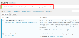 Remove WooThemes IgniteWoo Updater Plugin Notice WordPress
