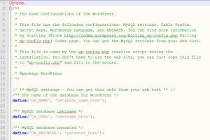 Editing your WordPress wp-config.php File
